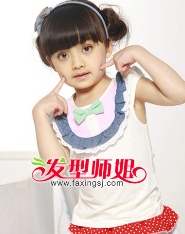 儿童公主盘发发型图集(3)